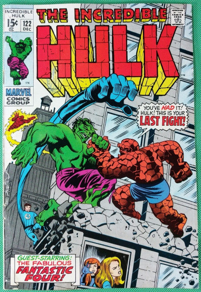 Incredible Hulk (1968) #122 VG (4.0) Thing battle cover