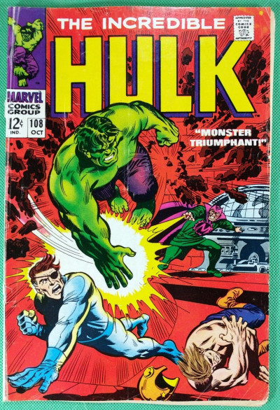 Incredible Hulk (1968) #108 VG (4.0) vs Mandarin and Nick Fury appearance