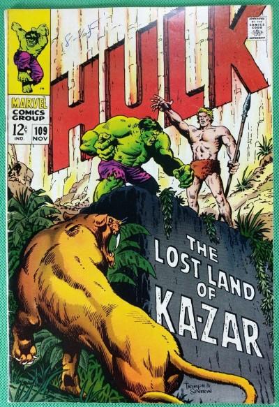 Incredible Hulk (1968) #109 FN- (5.5) Ka-Zar cover & app