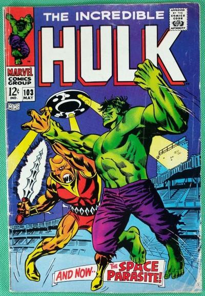 Incredible Hulk (1968) #103 VG- (3.5) versus Space Parasite