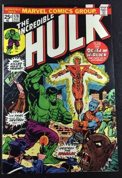 Incredible Hulk (1968) #178 NM (9.4) Rebirth of Warlock Mark Jewelers variant
