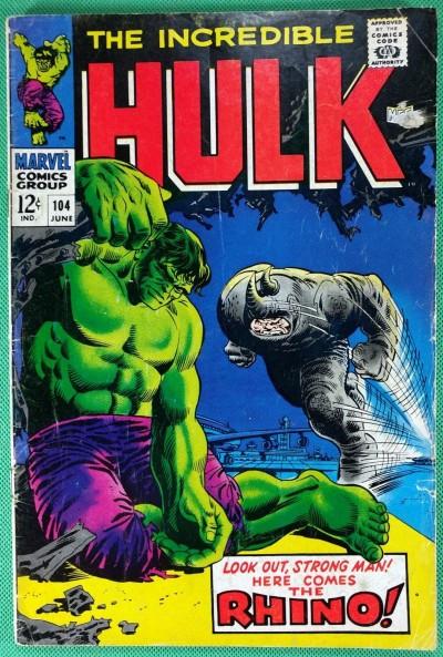 Incredible Hulk (1968) #104 GD/VG (3.0) vs Rhino