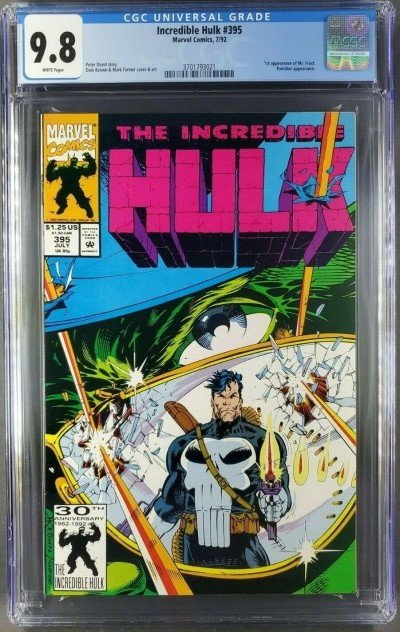 INCREDIBLE HULK 395 '92 CGC 9.8 LIKE HULK 340 IRON MAN 149 KEOWN PUNISHER COVER|