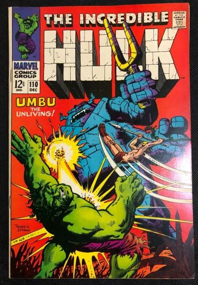 Incredible Hulk (1968) #110 FN/VF (7.0) 1st App Umbu the Unliving