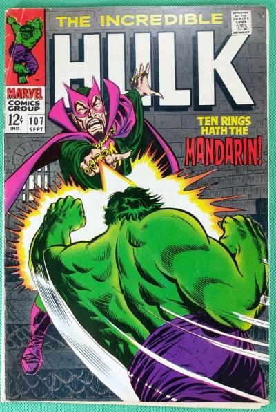 Incredible Hulk (1968) #107 VG/FN (5.0) vs Mandarin