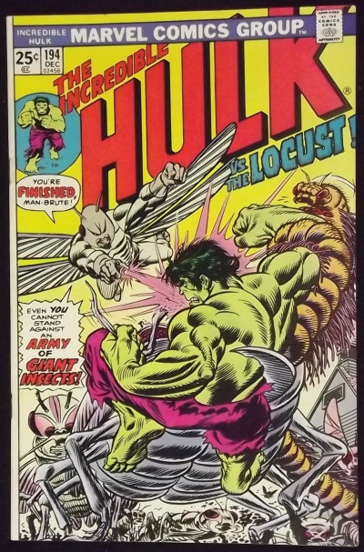 INCREDIBLE HULK #194 VF- VS THE LOCUST