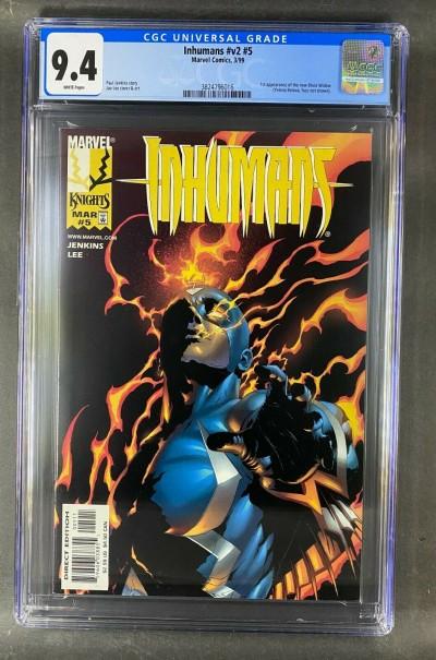 Inhumans (1998) #5 CGC Graded 9.4 1st App Black Widow Yelena Belova (3824796016)