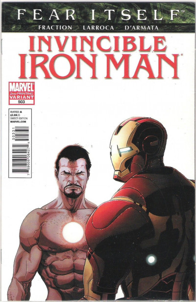 Invincbile Iron Man (2008) #503 VF+ - VF/NM 2nd Printing Fear Itself