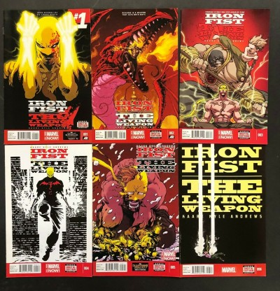 """Iron Fist: The Living Weapon (2014) #'s 1 2 3 4 5 6 Complete VF/NM """"Rage"""" Set"""