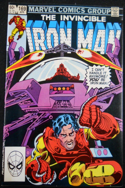 IRON MAN #169 NM- NEW IRON MAN JIM RHODES REPLACES TONY STARK