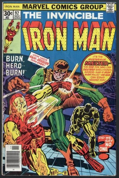 Iron Man (1968) #92 VG/FN (5.0) vs Melter