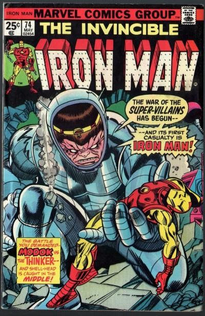 Iron Man (1968) #74 FN (6.0) War of the Super-Villains Modok Mad-Thinker
