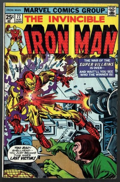 Iron Man (1968) #77 VG/FN (5.0) War of the Super-Villains conclusion