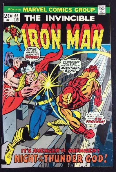 Iron Man (1968) #66 NM (9.4) classic Thor battle cover