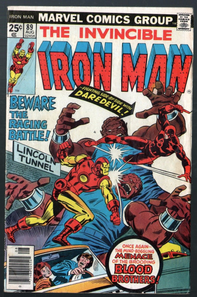 Iron Man (1968) #89 VG/FN (5.0) with Daredevil vs Blood Brothers