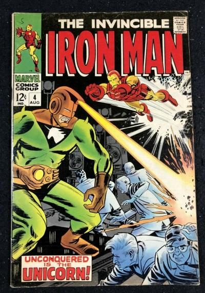 Iron Man (1968) #4 FN (6.0) vs Unicorn