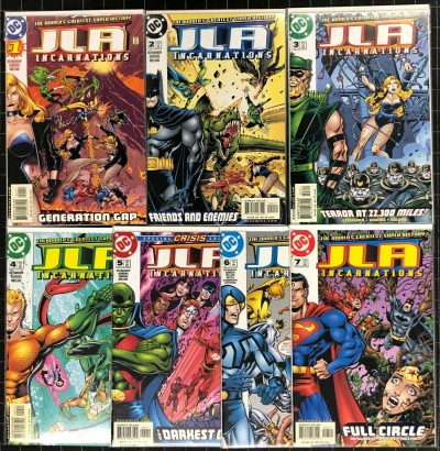 JLA Incarnations (2001) #1-7 NM (9.4) Complete set John Ostrander