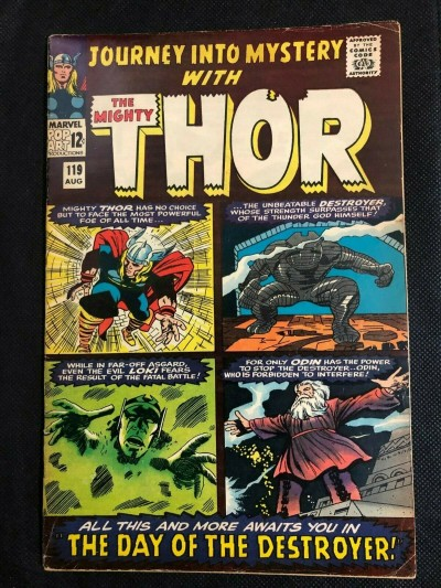 Journey into Mystery (1952) #119 FN- (5.5) Jack Kirby Thor