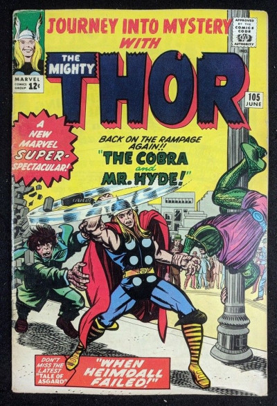 Journey into Mystery (1962) #105 VG+ (4.5) featuring Thor vs Cobra & Mr.Hyde