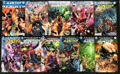 Justice League (2016) #1-10 + Rebirth #1 all cover A NM (9.4) 11 comics total