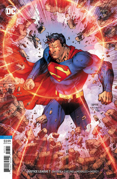 Justice League (2018) #7 VF/NM Jim Lee Superman Variant Cover DC Universe