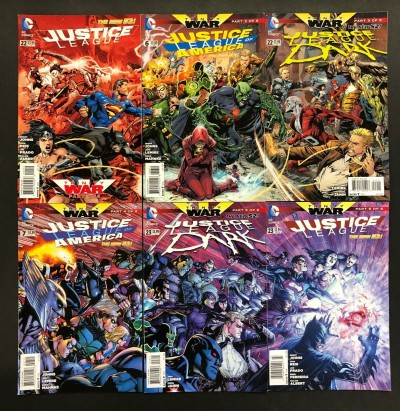 Justice League: Trinity War Complete Set Parts 1-6 League of America Dark New 52