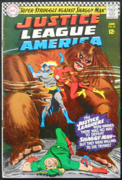 JUSTICE LEAGUE OF AMERICA #45 VG+