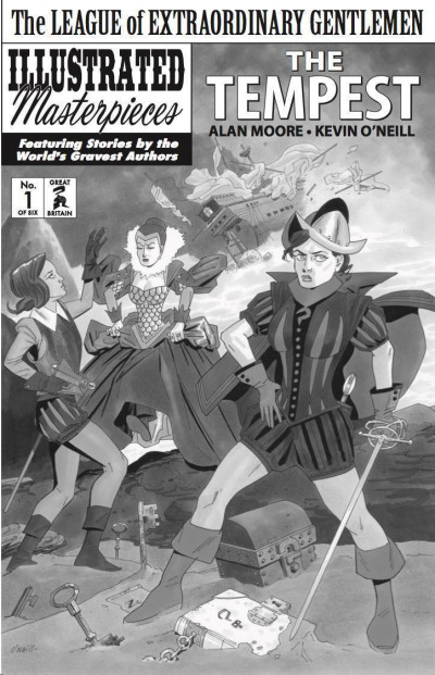 League of Extraordinary Gentlemen: Tempest (2018) #1 of 6 Black & White Variant
