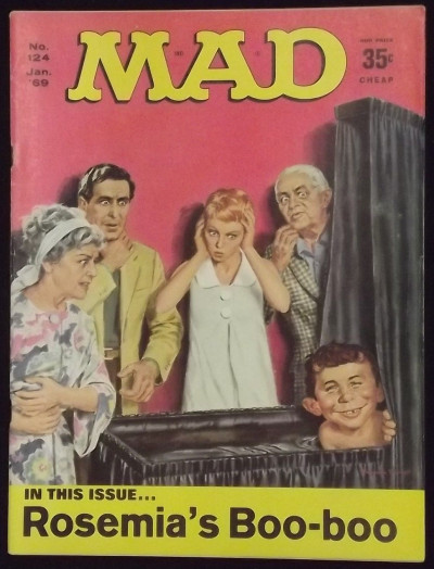 MAD MAGAZINE #'s 124-131 COMPLETE YEAR 1969 WITH ORIGINAL MAILERS ORIGINAL OWNER
