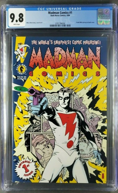 MADMAN COMICS 1 CGC 9.8 WHITE PAGES FRANK MILLER MIKE ALLRED DARK HORSE COMICS |