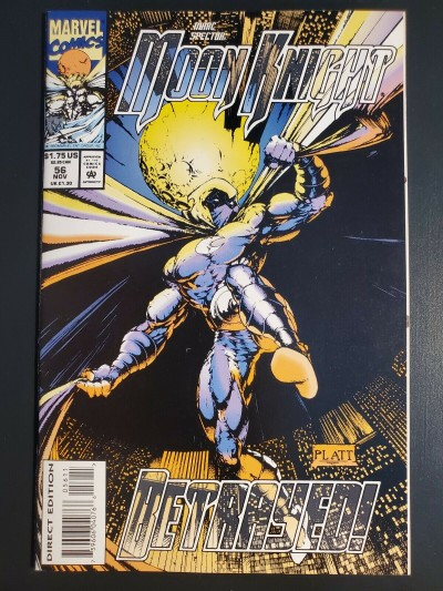 MARC SPECTOR: MOON KNIGHT #56 (1993) NM (9.4) WP 2ND STEPHEN PLATT ART 