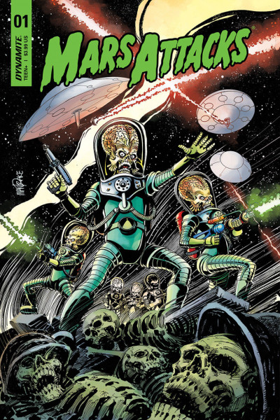 Mars Attacks (2018) #1 VF/NM Tom Mandrake Cover Dynamite