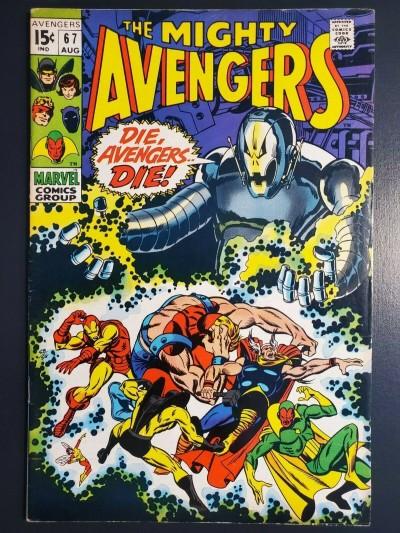 Marvel AVENGERS #67 F/VF (7.0) 1st Ultron Cover Barry Windsor Smith art  