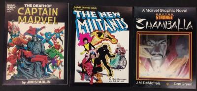 Marvel Graphic Novel (1982) 1-75 lot of 36 Death of Captain Marvel New Mutants
