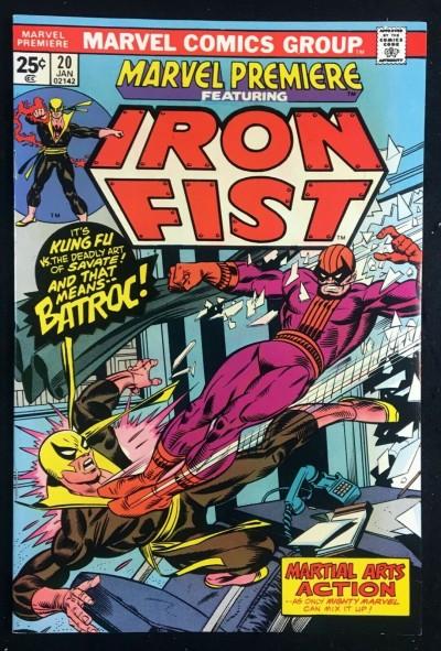 Marvel Premiere (1972) #20 NM (9.4) featuring Iron Fist vs Batroc
