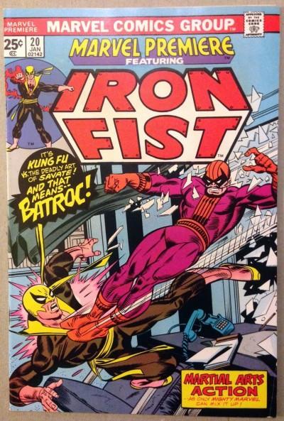 Marvel Premiere (1972) #20 FN/VF (7.0) featuring Iron Fist vs Batroc