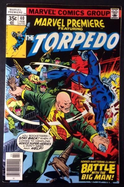 Marvel Premiere (1972) #40 VF+ (8.5) starring Torpedo