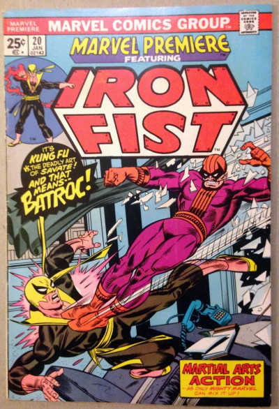 Marvel Premiere (1972) #20 FN (6.0) featuring Iron Fist