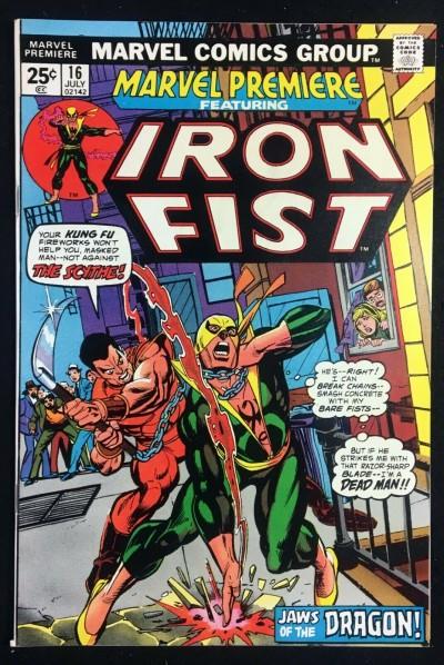 Marvel Premiere (1972) #16 NM- (9.2) 2nd app Iron Fist Mark Jewelers variant