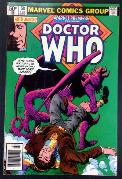 Marvel Premiere (1972) 58 FN/VF (7.0) featuring Doctor Who part 2 of 4