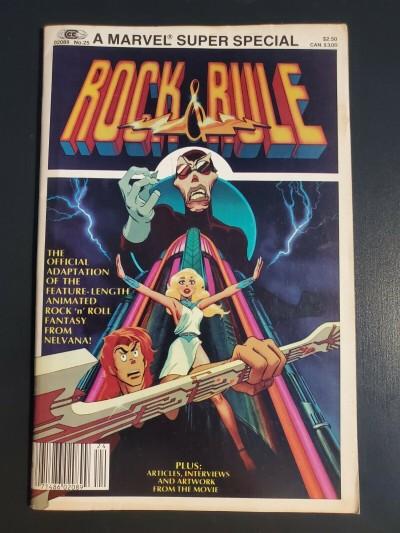 Marvel Super Special #25 Rock & Rule 1983 7.0 Debbie Harry Cheap Trick Iggy Pop 