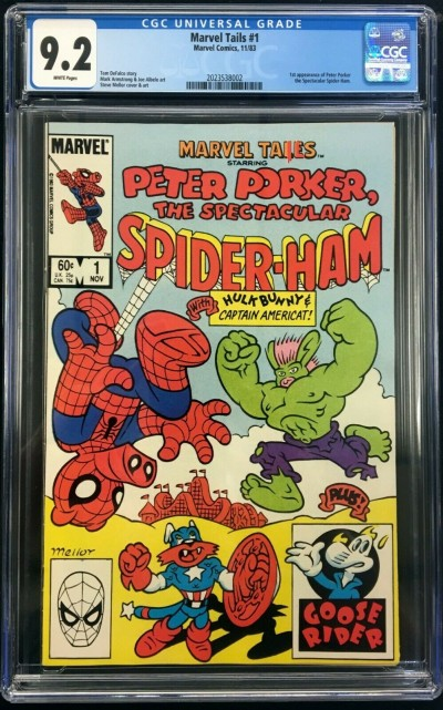 Marvel Tails (1983) #1 CGC 9.2 1st app Peter Porker Spider-Ham (2023538002)