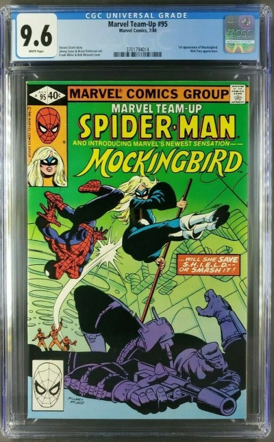 Marvel Team Up #95 (1980) CGC 9.6 White Pages 1st App. Mockingbird 3701794014  