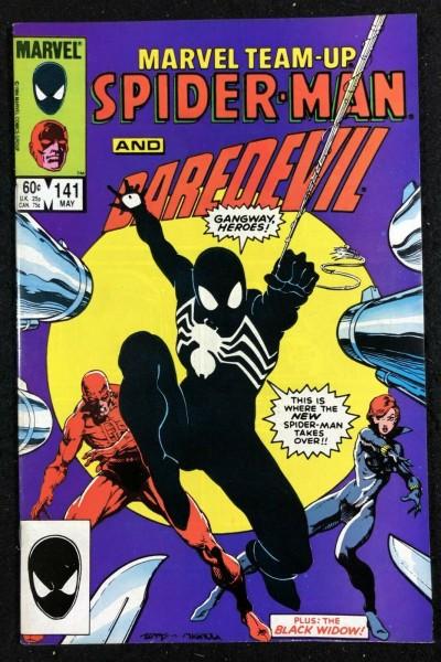 Marvel Team-Up (1972) #141 VF+ Spider-Man tied with ASM #252 1st Black Costume