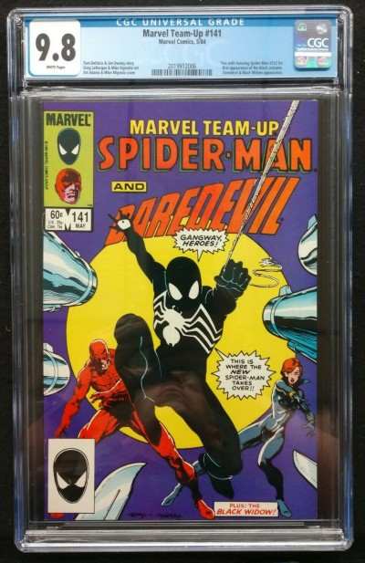Marvel Team-Up (1972) #141 CGC 9.8 White Pages (2019912006) Black Costume