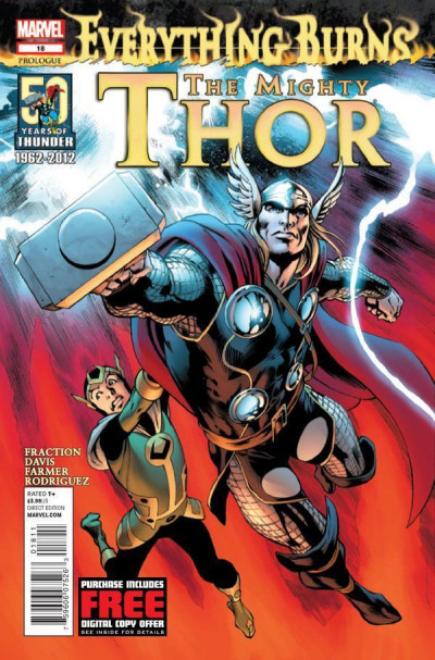 MIGHTY THOR #18 NM EVERYTHING BURNS: PROLOGUE