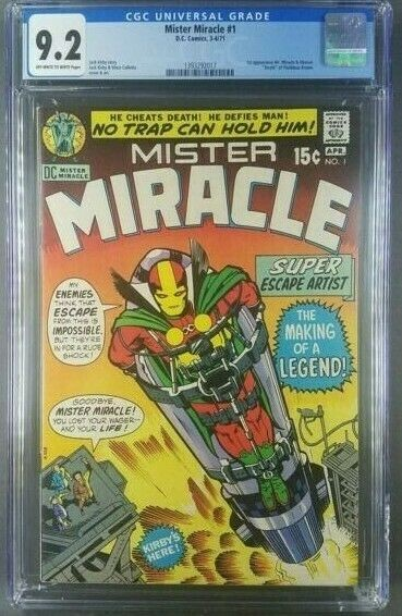MISTER MIRACLE #1 1971 CGC 9.2 NM- 1ST APP. MR. MIRACLE AND OBERON 1393292017|
