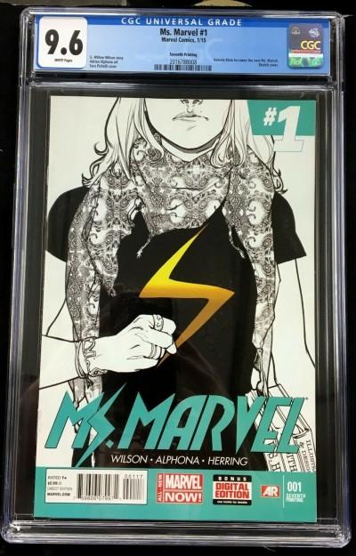 Ms Marvel (2014) #1 CGC 9.6 Kamala Khan becomes Ms Marvel 7th print (2016788008)