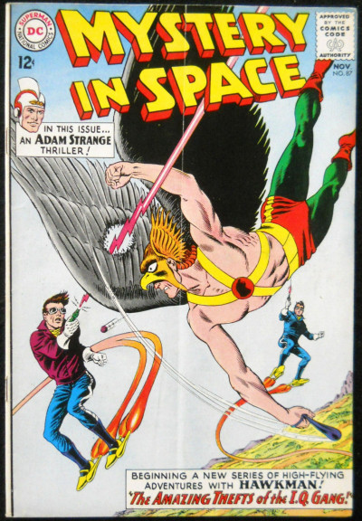 MYSTERY IN SPACE #87 VG+ ADAM STRANGE HAWKMAN DOUBLE FEATURE