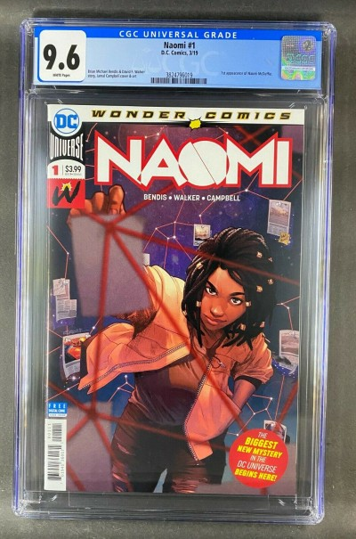 Naomi (2019) #1 CGC Graded 9.6 White Pages 1st App Naomi McDuffie (3824796019)